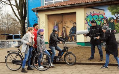 Making-Off des Werbeclips für die Jugendcrew