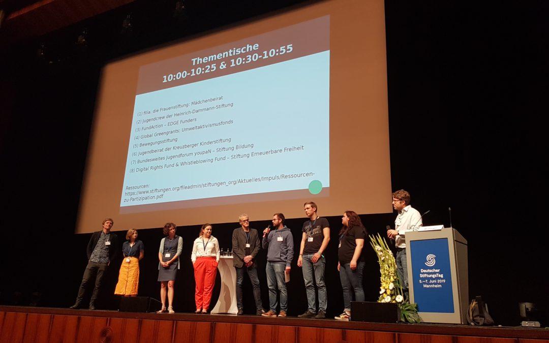 Die Heinrich-Dammann-Stiftung und die Jugendcrew auf dem StiftungsTag 2019