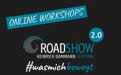 Roadshow #wasmichbewegt 2.0 – Jetzt als online Workshops