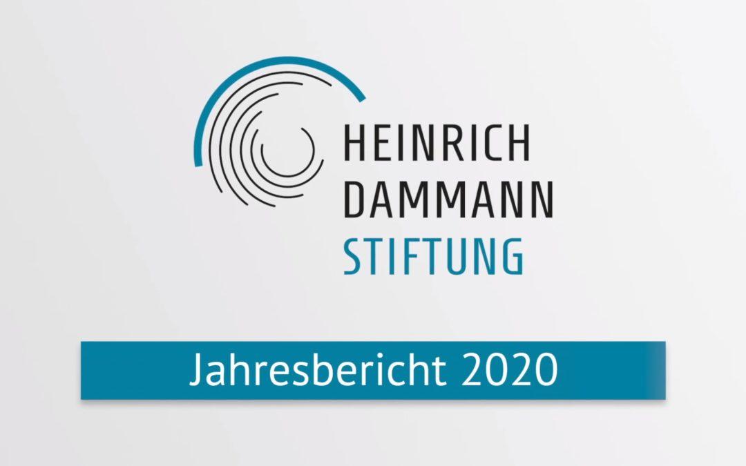 Der Jahresbericht 2020 der Heinrich-Dammann-Stiftung
